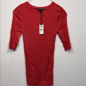 Express skin tight half sleeve T-shirt